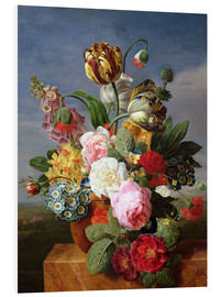 Foam board print  Bouquet of flowers in a vase - Jan Frans van Dael