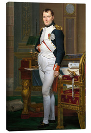 Canvas print  Napoleon in his study at the Tuileries - Jacques-Louis David