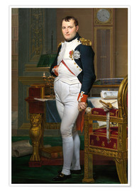 Premium poster  Napoleon in his study at the Tuileries - Jacques-Louis David