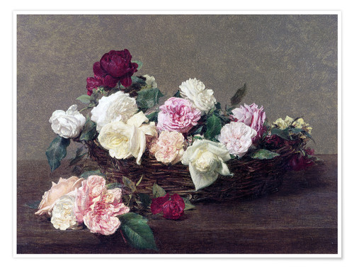 Premium poster Basket with roses