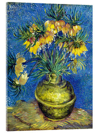 Acrylic print  Fritillaries in a Copper Vase - Vincent van Gogh