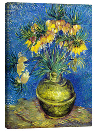 Canvas  Fritillaries in a Copper Vase - Vincent van Gogh