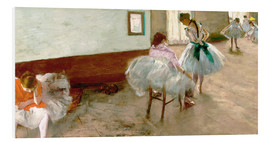 Foam board print  Dancing Lesson - Edgar Degas