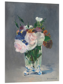 Foam board print  Flowers in a Crystal Vase - Edouard Manet
