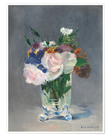 Premium poster  Flowers in a Crystal Vase - Edouard Manet