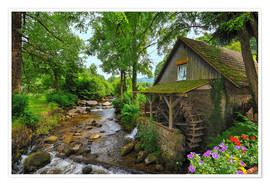 Premium poster  Mill in the black forest - FineArt Panorama