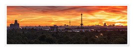 Premium poster Berlin Skyline Sunset - Panorama