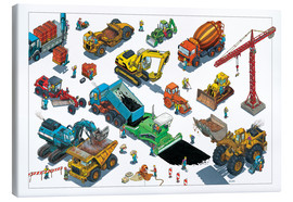 Canvas print  Construction machines - Helmut Kollars