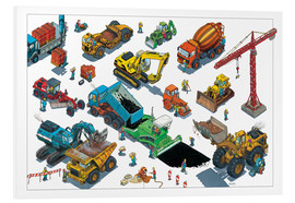 Foam board print  Construction machines - Helmut Kollars