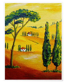 Premium poster  Tuscany Landscape 2 - Christine Huwer