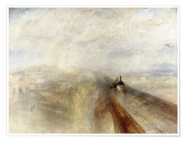 Premium poster  Rain, Steam and Speed - Joseph Mallord William Turner