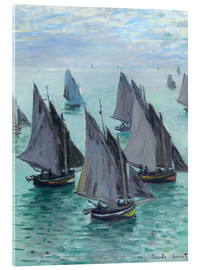 Acrylic print  Fishing Boats in Calm Waters - Claude Monet
