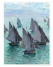 Premium poster  Fishing Boats in Calm Waters - Claude Monet
