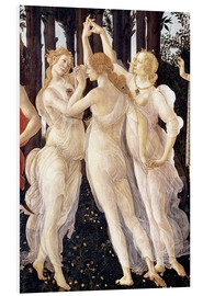 Foam board print  The Three Graces - Sandro Botticelli
