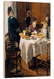Wood print  The Breakfast - Claude Monet