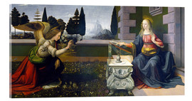 Acrylic glass  The Annunciation - Leonardo da Vinci