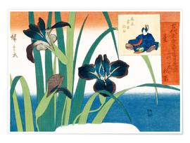 Premium poster Summer, irises at Yatsuhashi