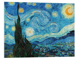 Foam board print  Starry night - Vincent van Gogh