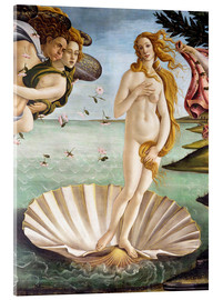 Acrylic print  The Birth of Venus (detail) - Sandro Botticelli