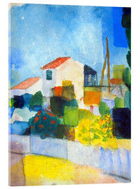 Acrylic glass  The bright house (first version) - August Macke