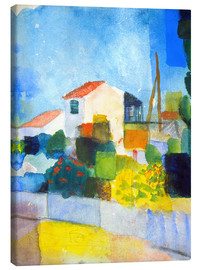 Canvas  The bright house (first version) - August Macke