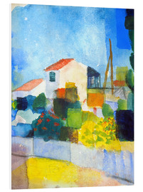 Foam board print  The bright house (first version) - August Macke