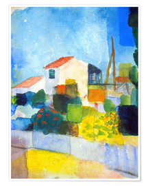 Premium poster  The bright house (first version) - August Macke
