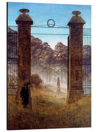Alu-Dibond  The Cemetery - Caspar David Friedrich