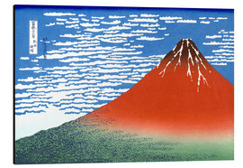 Aluminium print  Mt. Fuji in clear weather - Katsushika Hokusai