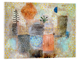 Acrylic print  Park with the cool half-moon - Paul Klee