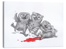 Canvas print  Party  - Tipsy Owls - Stefan Kahlhammer