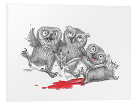 Foam board print  Party - Tipsy Owls - Stefan Kahlhammer