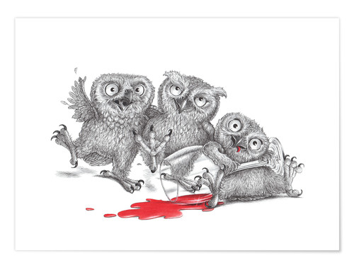 Premium poster Party  - Tipsy Owls