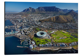 Aluminium print  Cape Town Stadium and Table Mountain - David Wall