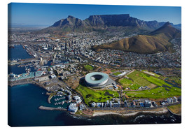 Canvas  Aerial view of Cape Town Stadium - David Wall