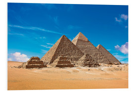 Foam board print  Pyramids of Giza - Miva Stock