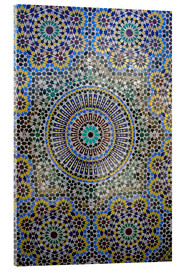 Acrylic print  Mosaic wall of a fountain - Kymri Wilt