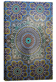 Canvas print  Mosaic wall of a fountain - Kymri Wilt