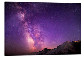 Acrylic print  Milky way at the violet sky - Gary Luhm
