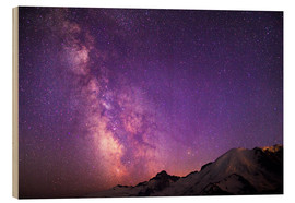 Wood print  Milky way at the violet sky - Gary Luhm