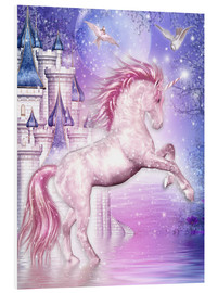 Foam board print  Pink Magic Unicorn - Dolphins DreamDesign