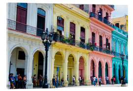 Acrylic print  Colorful facades in Havana - Bill Bachmann