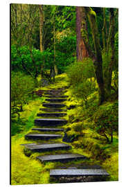 Aluminium print  Stairs in the Japanese garden - Michel Hersen