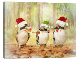 Canvas print  Kookaburra Christmas - Selina Morgan