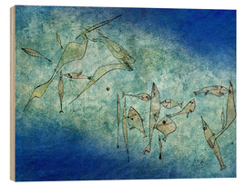 Wood print  Fish image - Paul Klee