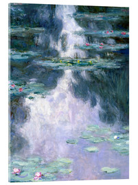 Acrylic glass  Water Lilies - Claude Monet