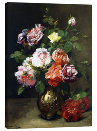 Canvas print  Roses in a vase - Dominique Hubert Rozier