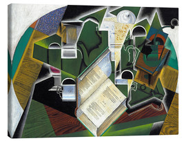 Canvas print  Still life with a book and glasses - Juan Gris