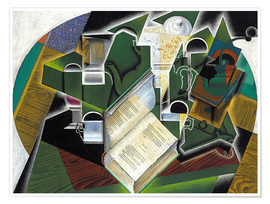 Premium poster  Still life with a book and glasses - Juan Gris