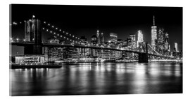 Acrylic print  Night Skylines NEW YORK II black and white - Melanie Viola